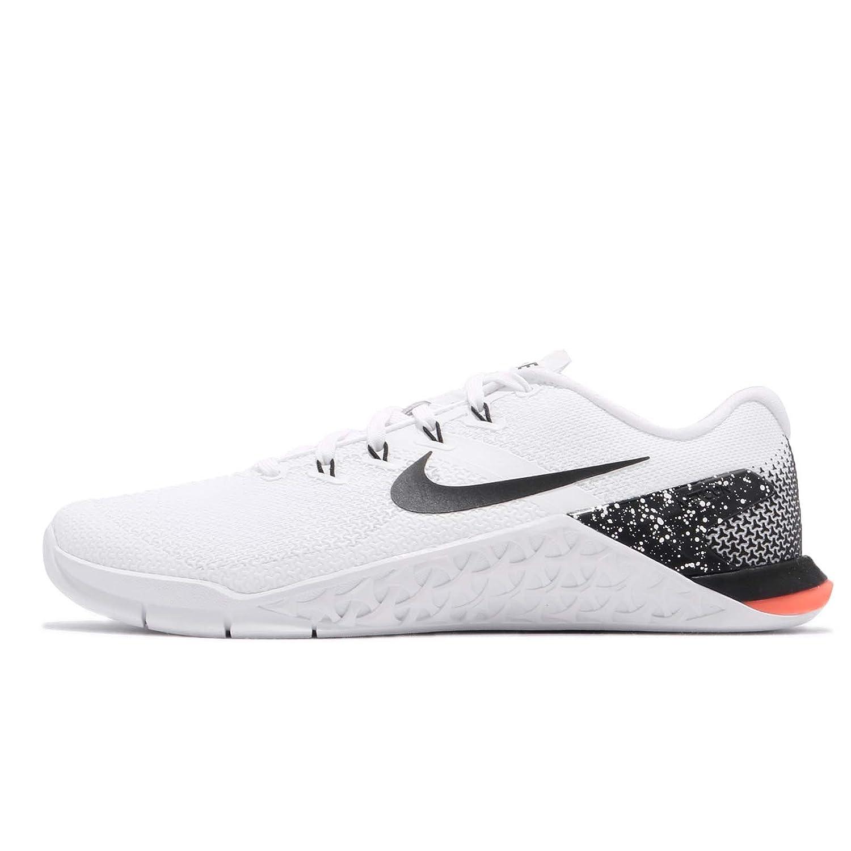 NIKE Women Metcon 4 Training Shoe Grey B07CG8M6XX 6 B(M) US|White/Black-total Crimson