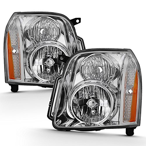 ACANII - For 2007-2014 GMC Yukon Denali XL1500 2500 Headlights Headlamps Driver + Passenger Side 07-14