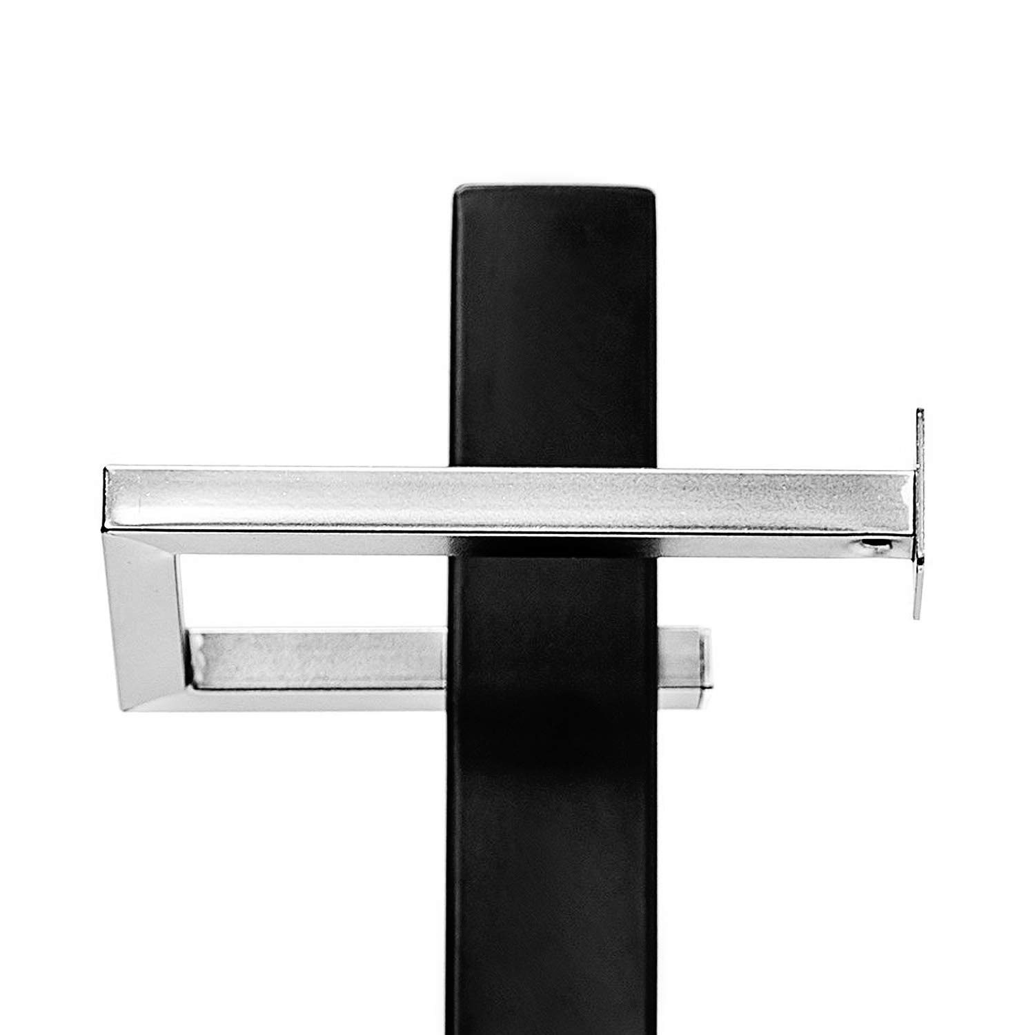Free Standing Toilet Paper Holder Black Tissue Industrial Bathroom Toilet Brush And Holder Set Stand Silver by FOYUEE (Image #4)