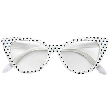 Amazon.com: Anteojos de sol vintage, estilo ojo de gato, a ...