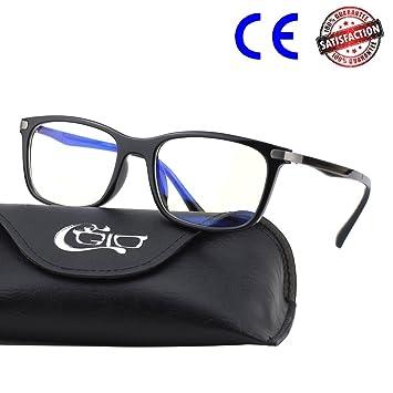 2f78fbd60eca11 CGID CT46 Lunettes bloquant la lumière Bleue Monture TR90 Premium, Anti  éblouissement Fatigue bloquant maux