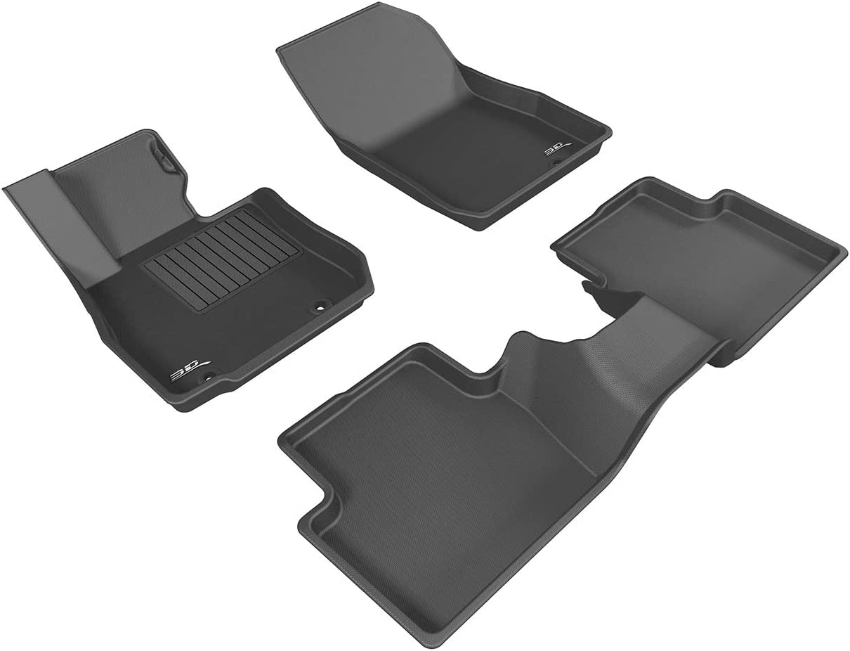 Kagu Rubber Black 3D MAXpider Complete Set Custom Fit All-Weather Floor Mat for Select Toyota Venza Models