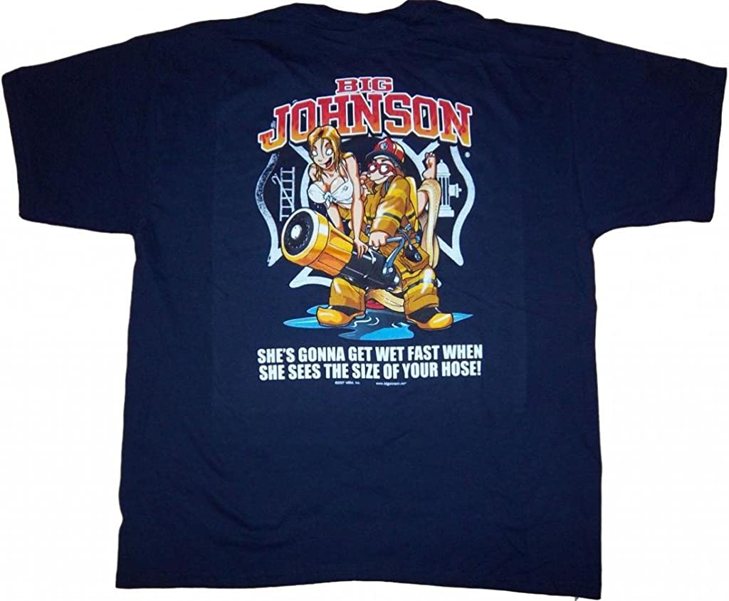 Big Johnson Big manguera bombero camiseta Humor: Amazon.es: Ropa y accesorios