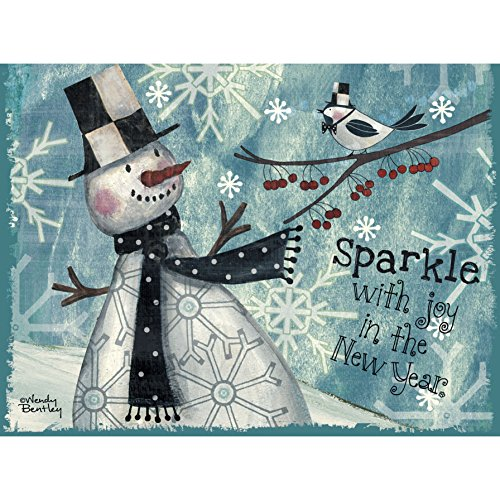 - Lang Sparkle Classic Christmas Card by Wendy Bentley, 4.25 x 6 inches,  12 Cards and 13 Envelopes  (2004025)