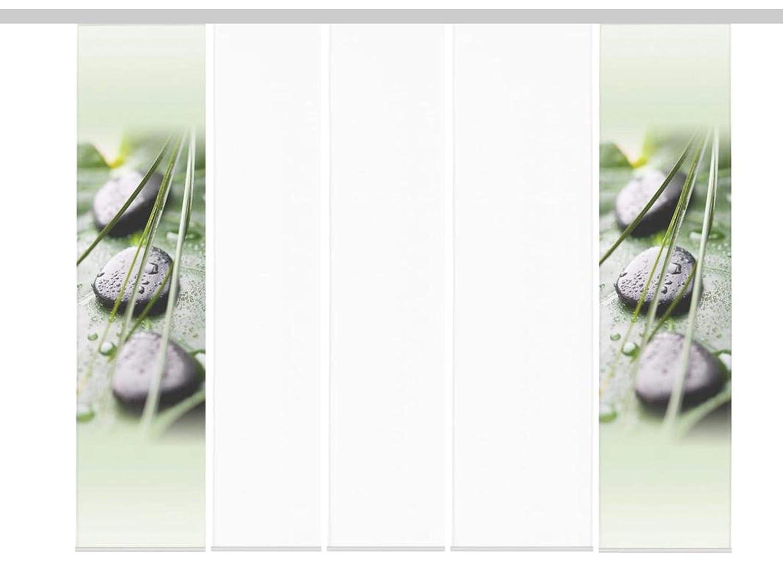 heimtexshop24 Fl/ächenvorh/änge Schiebegardinen 3-4-5-6 Set zur Auswahl incl Paneelwagen und Beschwerung 086061-0768 Lasergeschnitten 60cm x 245cm 3er Set Digitaldruck