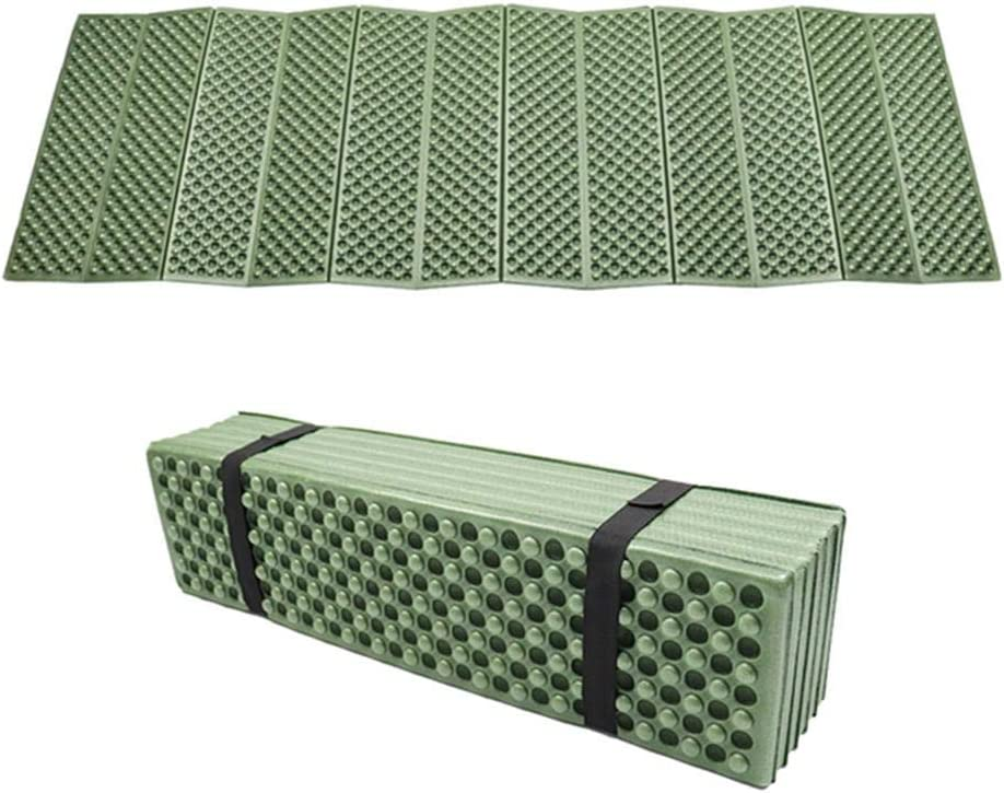 Hiking Or Even Yoga Exercise Fasteer Ultra-Light Moisture-Proof Camping Mat Yoga Mat Ideal for Camping Green Foldable Honeycomb Travel Mat