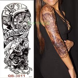 5pcs Impermeable Tatuaje Mecánica de la Etiqueta engomada de ...