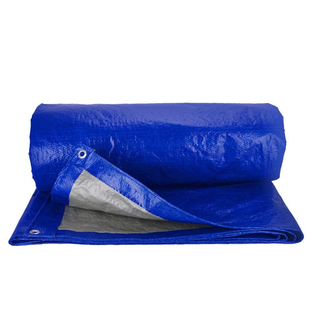 MDBLYJWinddichtes und Kaltes Tuch Sonnenschutztuc Blaue gepolsterte Wasserdichte Plane, Sonnenschutz LKW-Plane, Staubtuch Markise