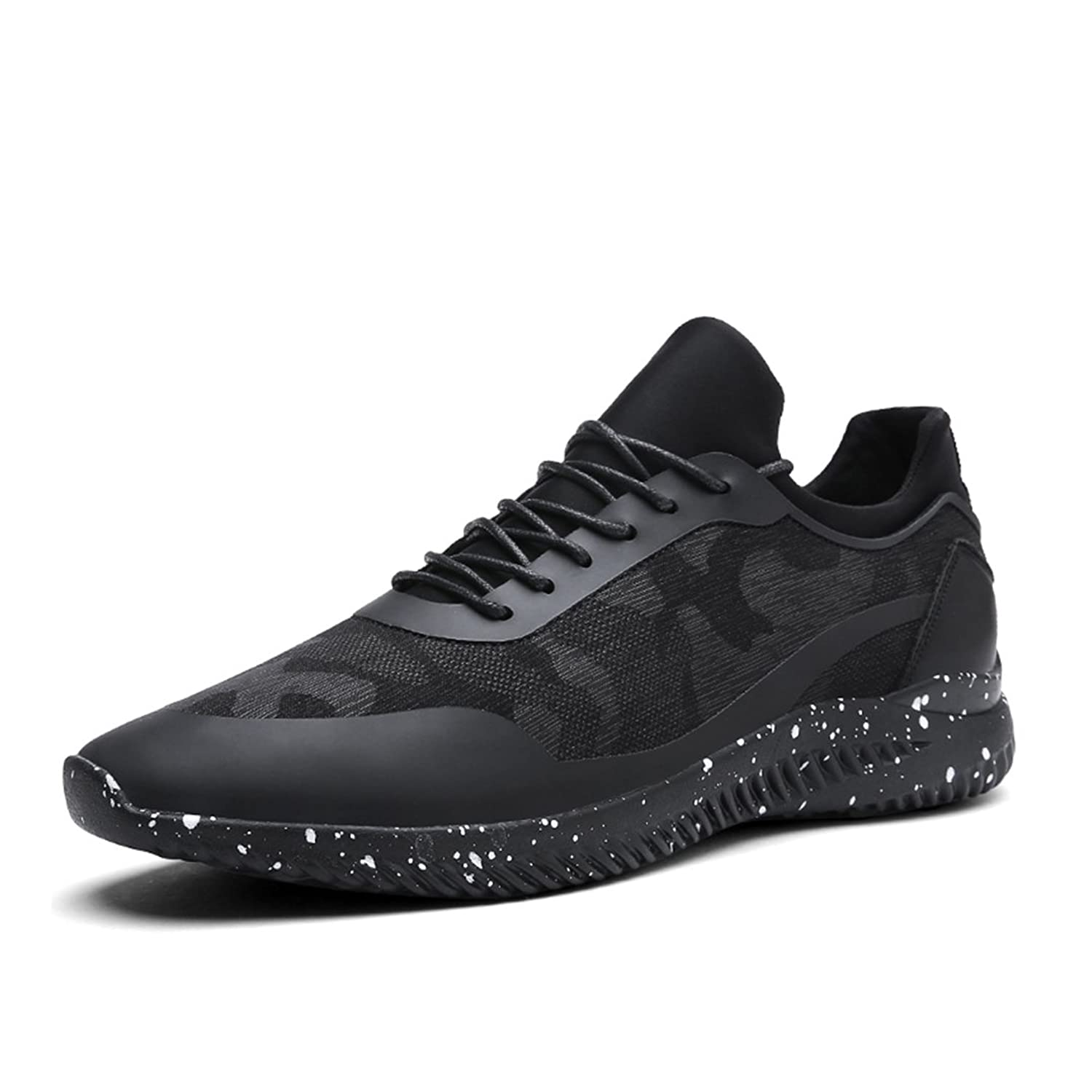 Shoes Spring Mens Casual Shoes Outdoor Exercise Sneakers Breathable Comfort Running Shoes Black (Color : Black Size : 39)