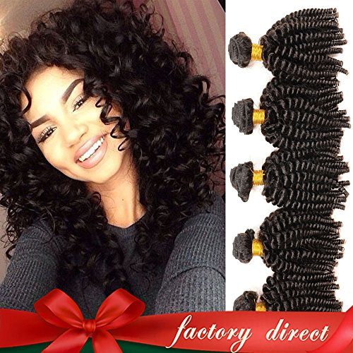 Aliglossy hair Mongolian afro kinky curly hair 3pcs weave bundles deals 8 to 22 inches 100% human hair extensions Unprocessed virgin hair (14 16 18) (Best Hair Length To Start Dreads)