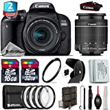 Canon EOS Rebel 800D/T7i Camera + 18-55mm IS STM Lens + 2yr Extended Warranty + 32GB Class 10 Memory Card + Backup Battery + 16GB Class 10 + Macro Filter Kit - International Version