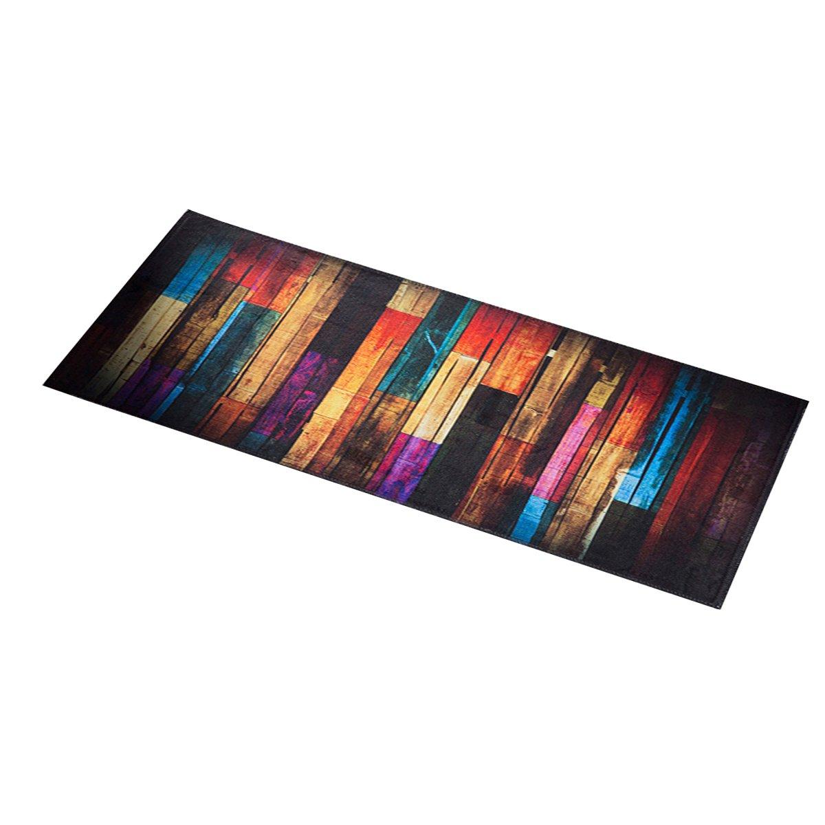 OUNONA Tapis de Cuisine Tapis de Sol antidé rapant 40 x 100 cm (Bois coloré )