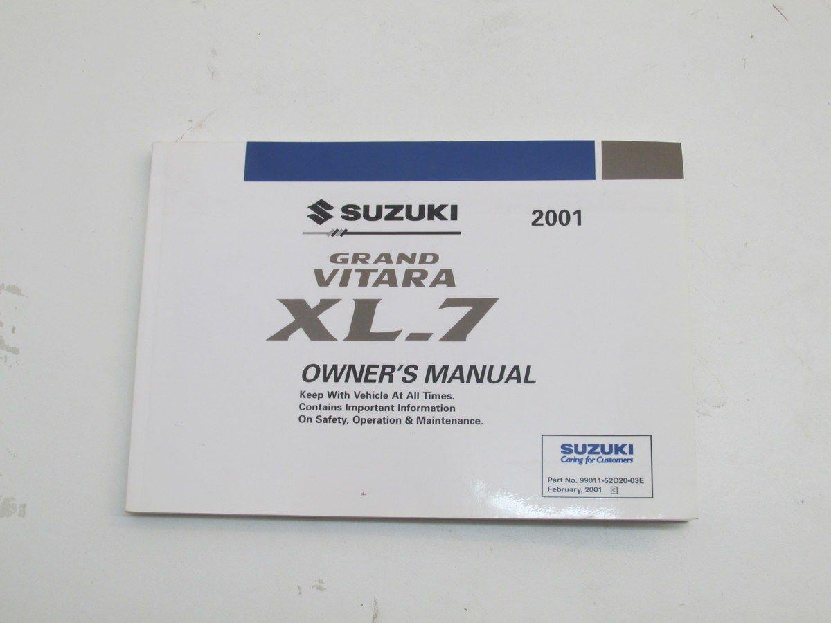 Amazon.com: 2001 Suzuki Grand Vitara XL-7 Owners Operating Manual  99011-52D20-03E: Automotive