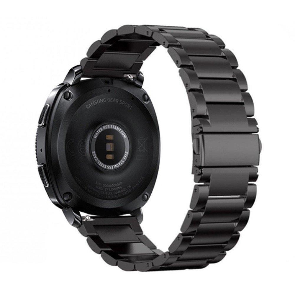 Modaworld _Correa de reloj de Acero Inoxidable Correas Accesorio para Inteligentes Muñequeras Bandas de Metal Pulsera de Repuesto para Samsung Gear Sport ...