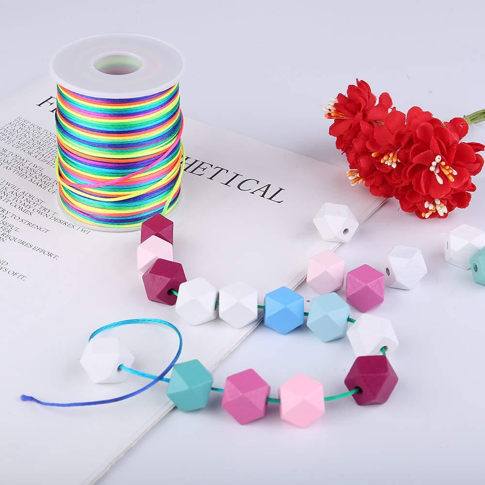 colore: arcobaleno Filo elastico per perline iufvbgxdh 1,5 mm 100 m