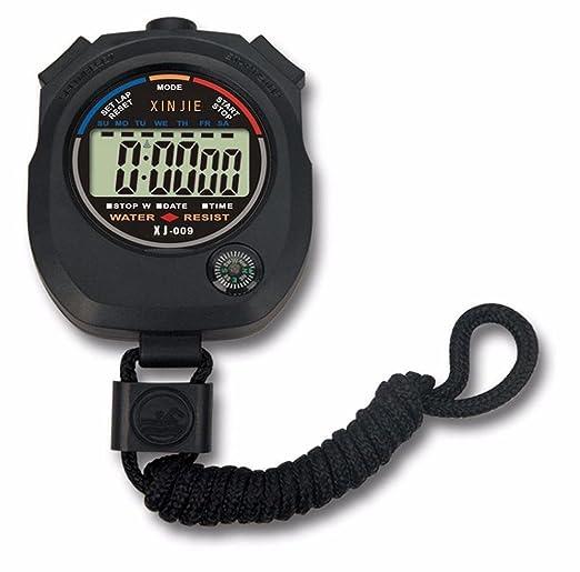 RETUROM Alarma impermeable LCD digital Cronómetro Cronógrafo Indicador Contador Deportes