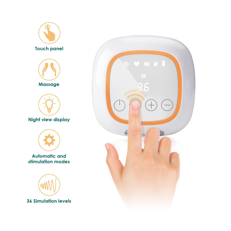 36 niveaux Gland Tire-lait /Électrique Double Pompes Pompes dallaitement Portable et Rapide Ecrans Tactiles USB Rechargeables Fonction massage et sucer