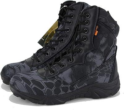 Compre Invierno Hombres Botas Tácticas Militares Desierto De Cuero Combate Exterior Botas De Montaña Zapatos De Senderismo Botas De Viaje Trekking
