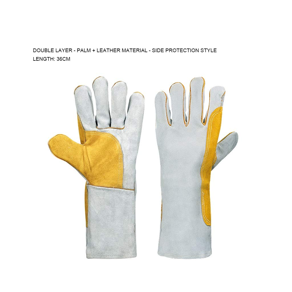 YYTLST Welder Gloves, Anti-scalding, Soft and Heat-Insulating, Suitable for Welding Industrial Plants, Six Styles to Choose from (Color : E) by YYTLST