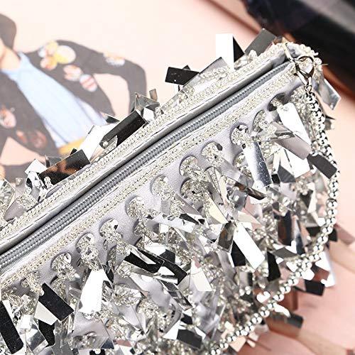 clutch 20x14x7cm Cena Pochette Sera Sera Da Per La Lluffy Lusso Paillettes Nuova Moda Creativa Borsa Di Signore A4qwdn