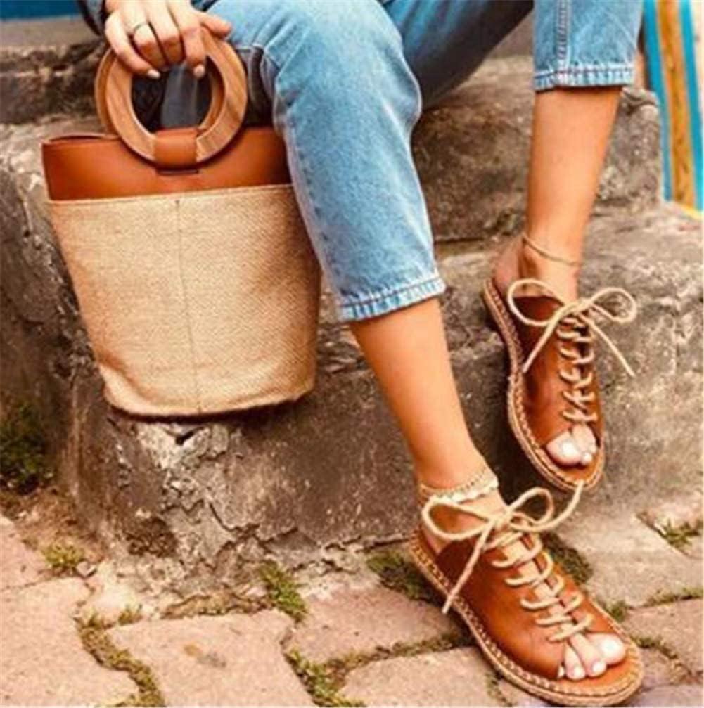 صنادل نسائية صيفية شقق أحذية عصرية كاجوال صندل كاجوال موديل روما صندل كاجوال، أسود، 42