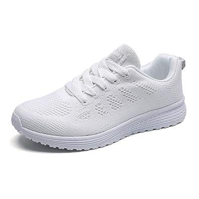 Donna Sneakers Scarpe da Ginnastica da Donna Scarpe Sportive da Donna Scarpe da Lavoro Scarpe Casual da Donna Air Cuscino Leggero Traspirante Nero Blu