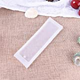 KathShop 1PCS Craft DIY Transparent UV Resin Liquid Silicone Mold Rectangle Bookmarks Resin Molds for DIY Pendant Charms Making Jewelry