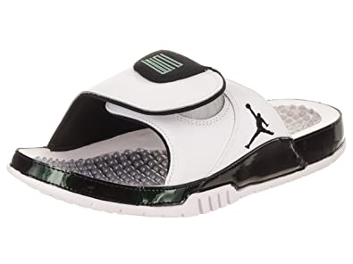 34a9f09a18f2 NIKE Men s Air Jordan Hydro Xi Retro Slide White Emerald Rise   Amazon.co.uk  Shoes   Bags