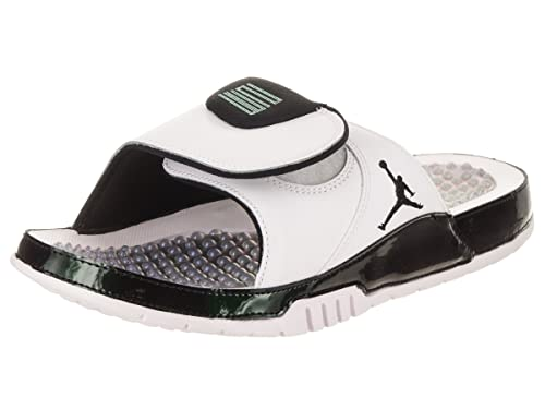 0f1cb9952 Nike Men s Air Jordan Hydro Xi Retro Slide White Emerald Rise (13 D ...