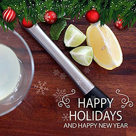 Professional Drink Muddler – Ideal Bartender Tool for Old Fashioned & Mojitos by BARVIVO – Muddle & Mix the Perfect…