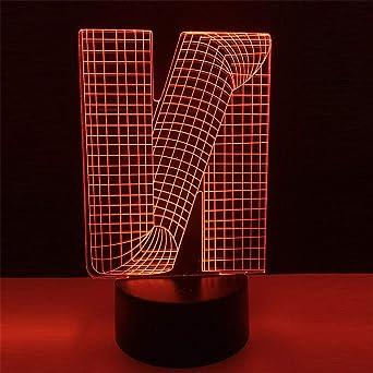 3D LED cerca de luz, 7 ColorsTouch/control remoto Art , USB/AA ...