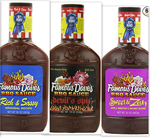 Famous Dave's BBQ Sauce Variety Bundle, 19 oz  includes 1-Pa