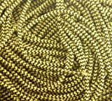 Strong 3/16' 5mm Cord Shoe, Boot Laces Black & Yellow Dog Tooth 71' - 180cm