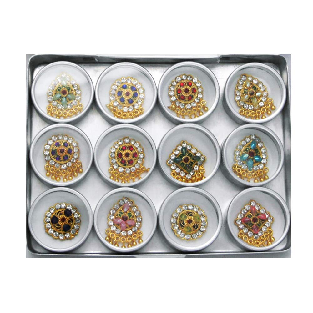 Designer Reusable Bindi Set, Gift set, Authentic Assorted Bindis by BridalBindis (Image #1)
