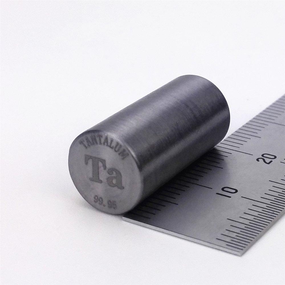 Pure Tantalum Metal Rod 99.95% 10diameter x20mm length 27grams Element Ta Sample by Chinaium