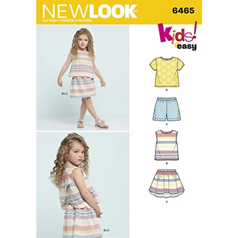 3-12 ans Simplicity New Look Sewing Pattern 6258: Childs and Girls Circle Skirts Size A 3-4-5-6-7-8-10-12