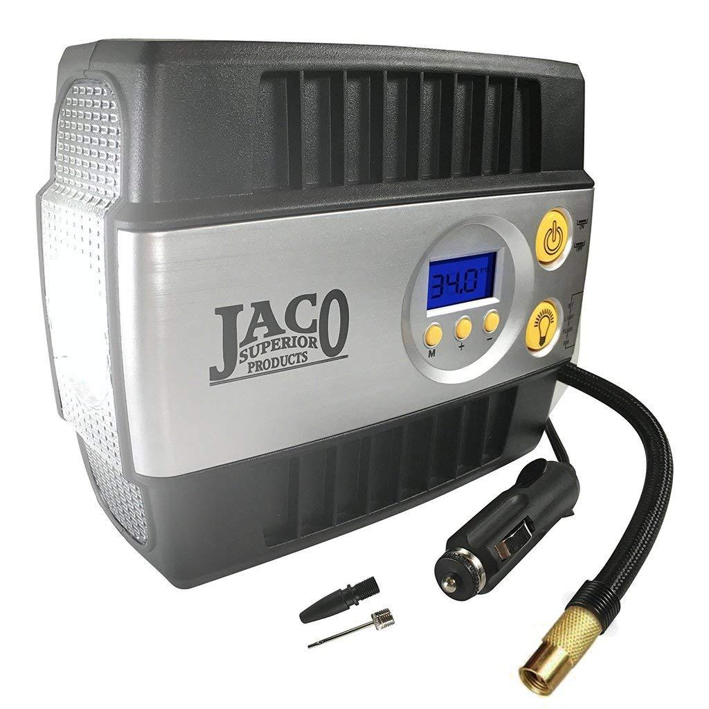 JACO SmartPro Digital Tire Inflator Pump - Premium 12V Portable Air Compressor - 100 PSI by JACO Superior Products (Image #1)