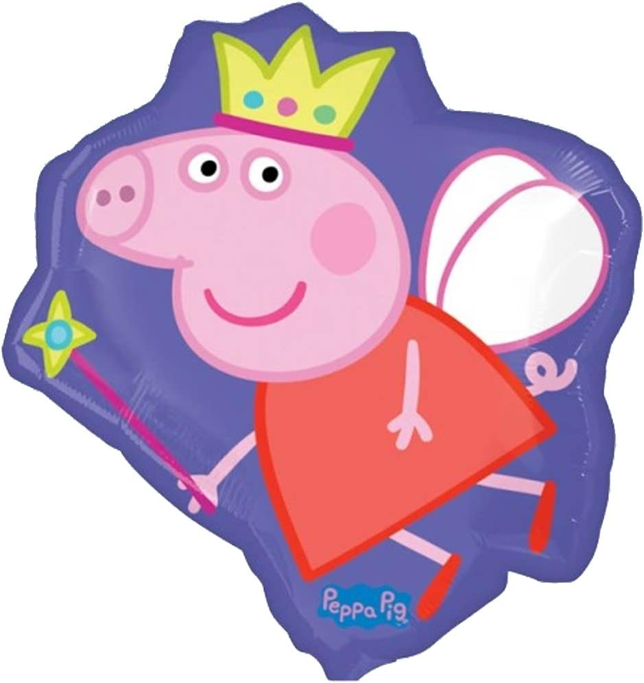 "Amazon.com: 22"" púrpura Peppa Pig Hada Foil Supershape ..."