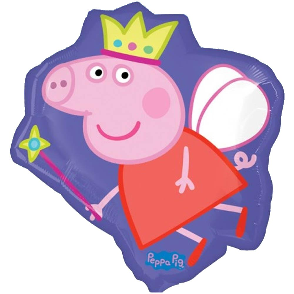 "Amazon.com: 22"" púrpura Peppa Pig Hada Foil Supershape ..."