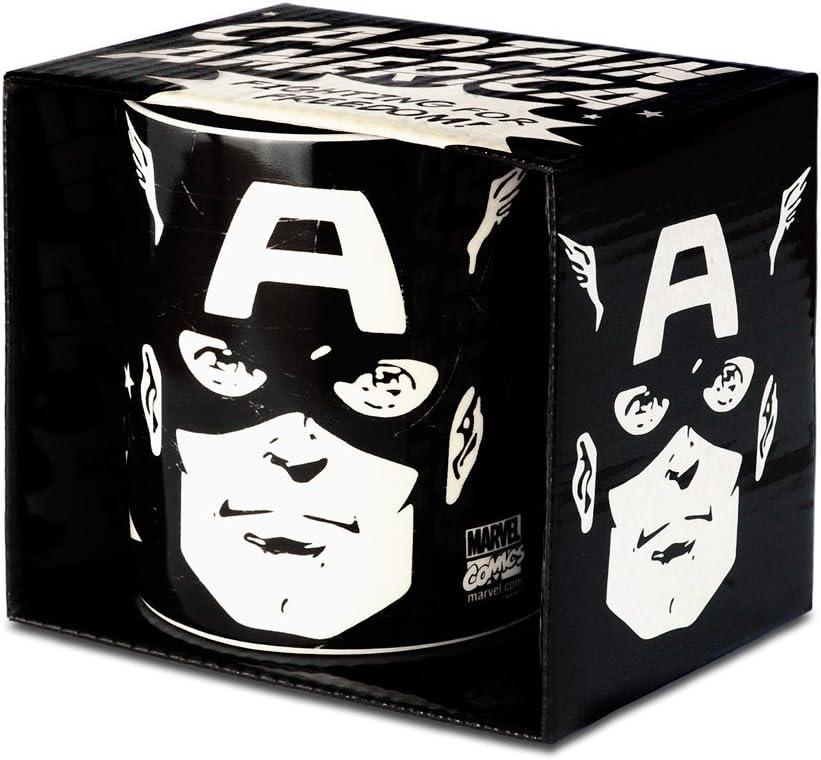 Logoshirt Captain America Taza de Cafe - Marvel Comics Taza - Diseño Original con Licencia: Amazon.es: Hogar