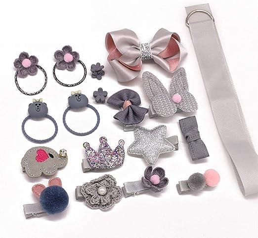 1 Set Hairpin Baby Girl Hair Clip Bow Flower Mini Barrettes Star Kids Infant 18X