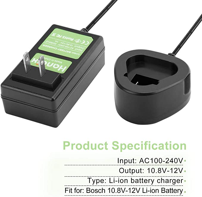 10.8V//12V Li-ion Akku Ladegerät für BAT411 BAT412A 2607336996 2607336864 D-70745