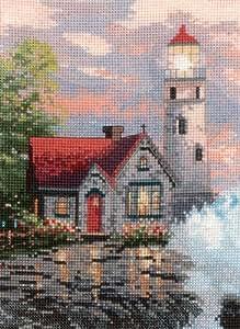 Candamar Beacon of Hope by Thomas Kinkade - Juego de punto de cruz, multicolor