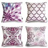 Purple Throw Pillows PHANTOSCOPE Decorative New Geometric Series Throw Pillow Cushion Cover Purple New Living 18