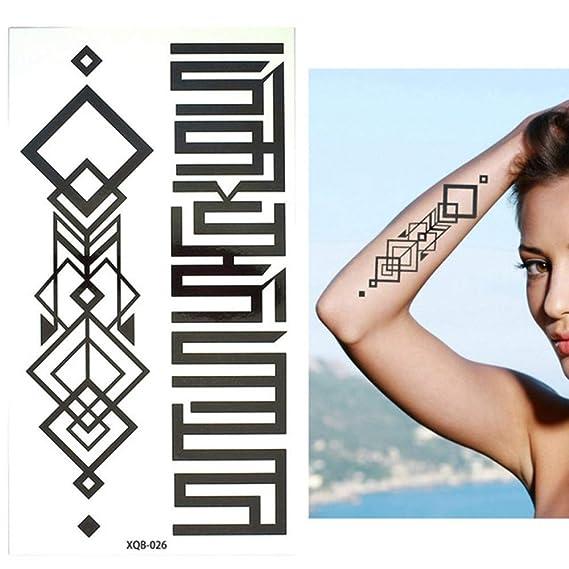 adgkitb 3pcs pequeño Brazo Completo de Flores Tatuaje Temporal a ...