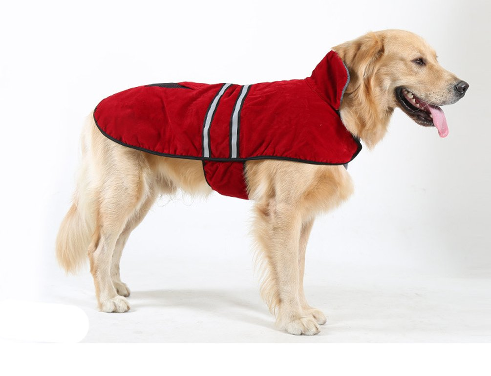 Fashion Shop Northeaster Fleece Reflective Jackets For Dogs (L (back 20''))