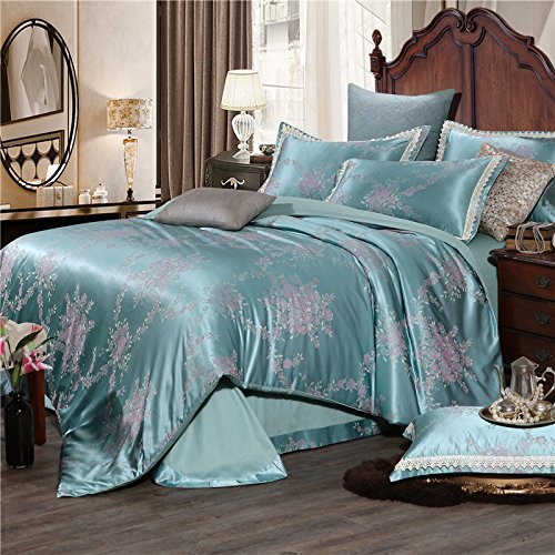 Image of BB.er Continental Jacquard Bedding Sets Pure Cotton Double Soft Breathable Textile Packaged,CH0016C,220×240CM Home and Kitchen