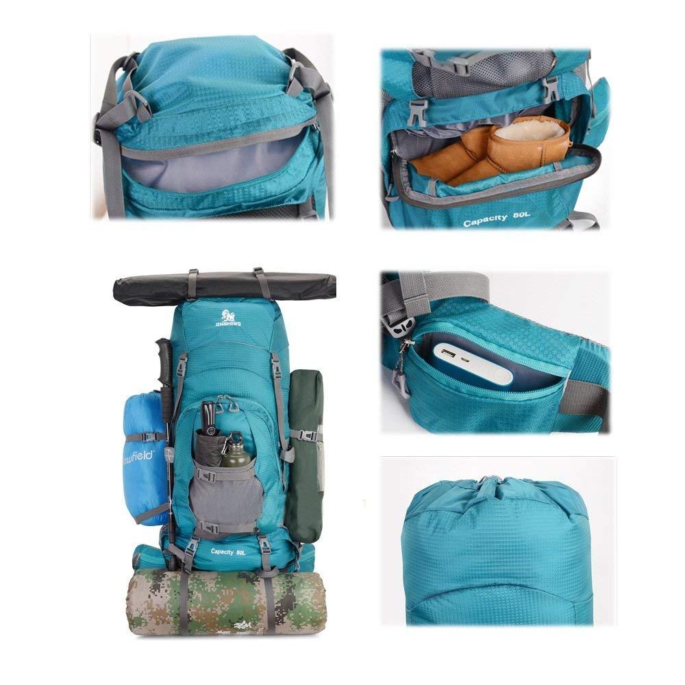 Bleu  ZLL Sacs à dos de randonnée , Sacs à dos de randonnée - Sac de voyage en plein air pour alpinisme en plein air pour homme et femme de grande capacité Sac de randonnée Sac à dos pour sac à dos p