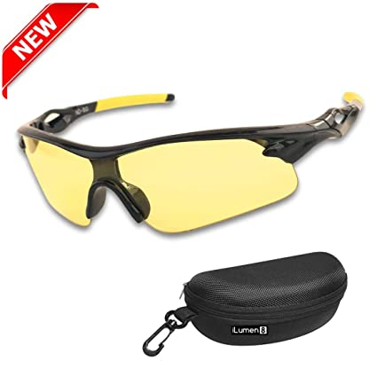 129ad7d10655 iLumen8 Best Shooting Glasses UV Blacklight Flashlight Yellow Safety Eye  Protection See Dog Cat Urine with