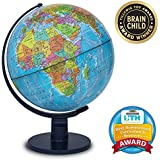 """Waypoint Geographic Scout 12"""" Globe Globe For Kids & Teachers - More than 4, 000 name Places - Great Color & Unique Construction - Up-To-Date World Globe - with Stand"""